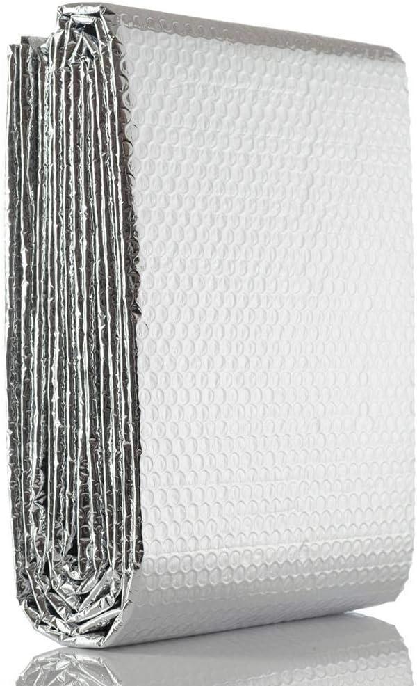 Papier Daluminium//aluminis/é pour R/éflecteur De Chaleur 2 M 60 Cm Feuille Isolante Rouleau Isolant Barri/ère Thermique Disolation Isolation PE
