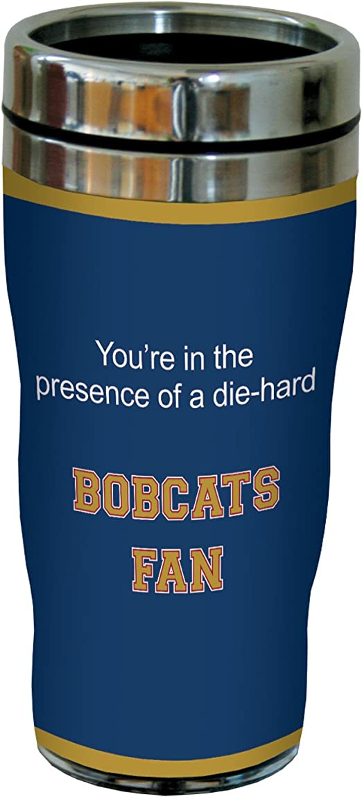 16 Ounce Tree Free Tree-Free Greetings sg24913 Bobcats College Basketball Sip N Go Stainless Steel Lined Travel Tumbler