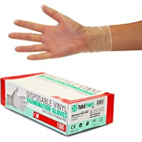 Vinyl Handschoenen 1000 stuks 10 dozen (M, transparant) poedervrij, zonder latex, niet-steriel, latexvrij
