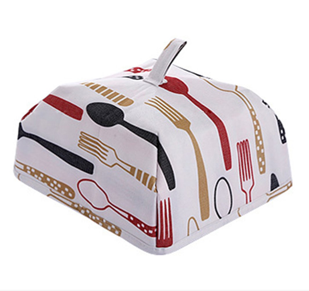 Foldable Square Food Lid, Kitchen Foldable Lid, Food Container, Reusable and Foldable Aluminum Foil Food Lid, with Protection Against Flies and Bugs and Thermal Insulation (red, 15×35) Wenwan