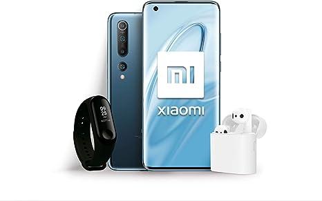 """Xiaomi Mi 10 Pack Lanzamiento (Pantalla FHD+ 6.67"""", 8GB+128GB, Camara de 108MP, Snapdragon 865 5G, 4780mah con Carga 30W, Android 10) Gris + Mi Band 3 + Mi True Wireless Earphone 2 [Versión española]: Amazon.es: Electrónica"""