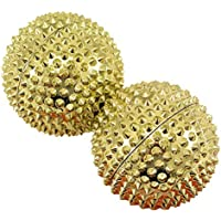 Magneet acupunctuur massage ballen, 2 stuks goud groot