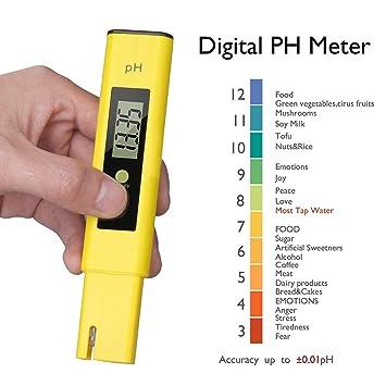 Medidor de pH PH-02 digital, GFEU portátil de alta precisión tipo bolígrafo de