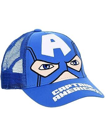 87bcfa874f0d Captain America Casquette Enfant garçon Les Avengers Bleu de 3 à 9ans - Bleu,  52