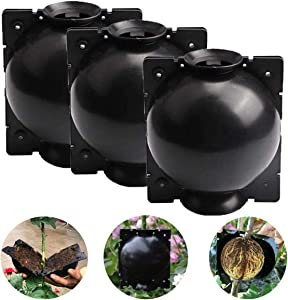 Feeke Plant Propagation Rooting Ball Device for Indoor & Outdoor - Reusable Plant Propagation Air-Layering Pod - Damage-Free High-Efficiency Grafting Box (L)