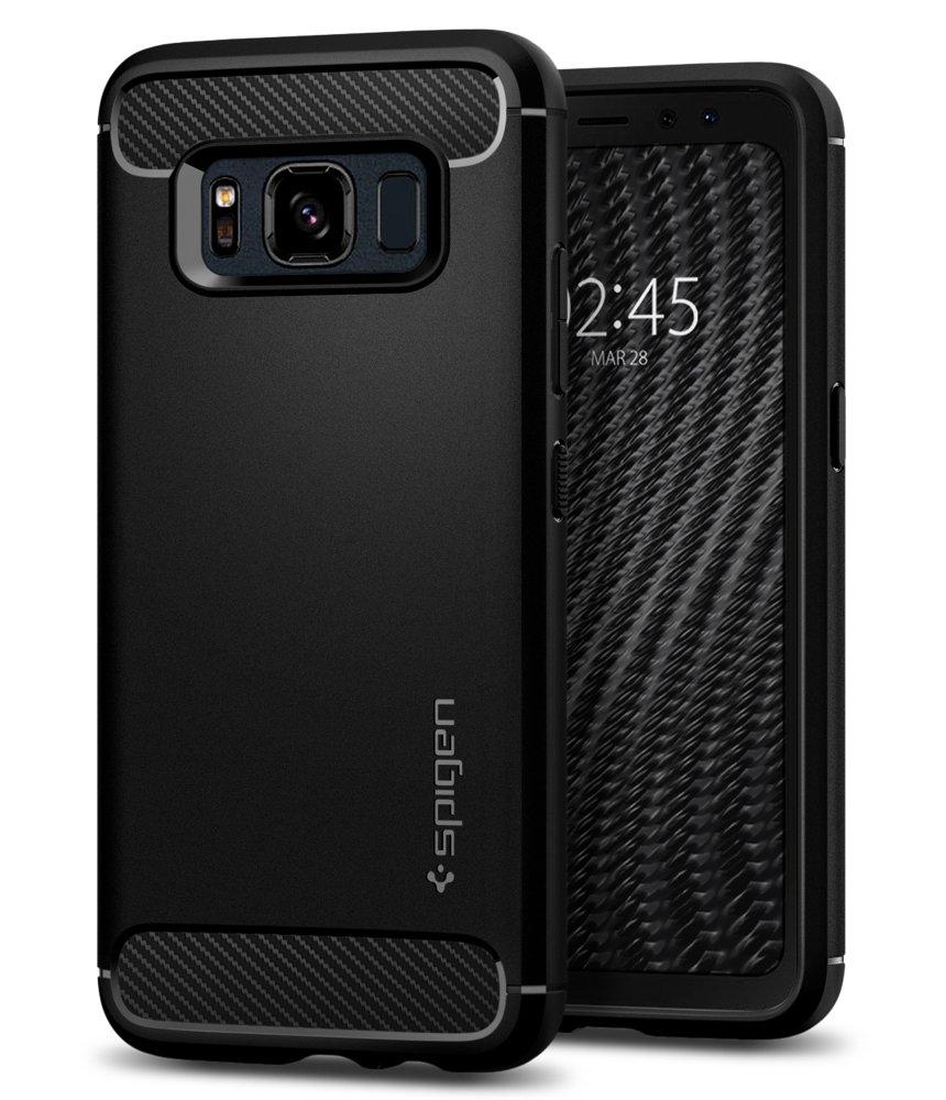 Funda Spigen Samsung S8 Active [black] Rugged Armor
