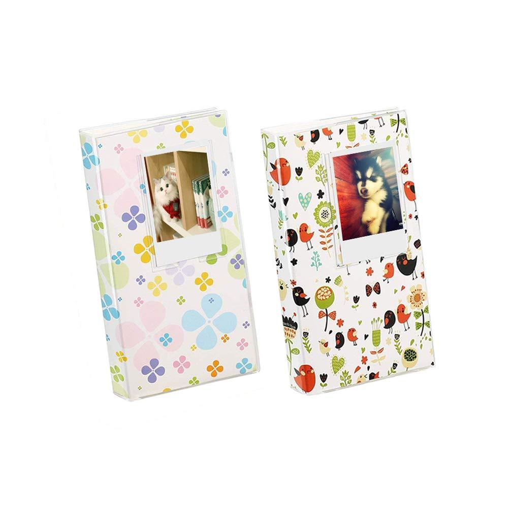 Katia 84 Pockets 3-Inch Photo Album for Polaroid Fujifilm Instax Mini 9/8/ 70/ 7S/ 25/ 50S/ 90 Z2300 PIC-300P Film/Canon 3204C001 Printer, Ticket Holder/Memo / Business Card - Deer and Bird