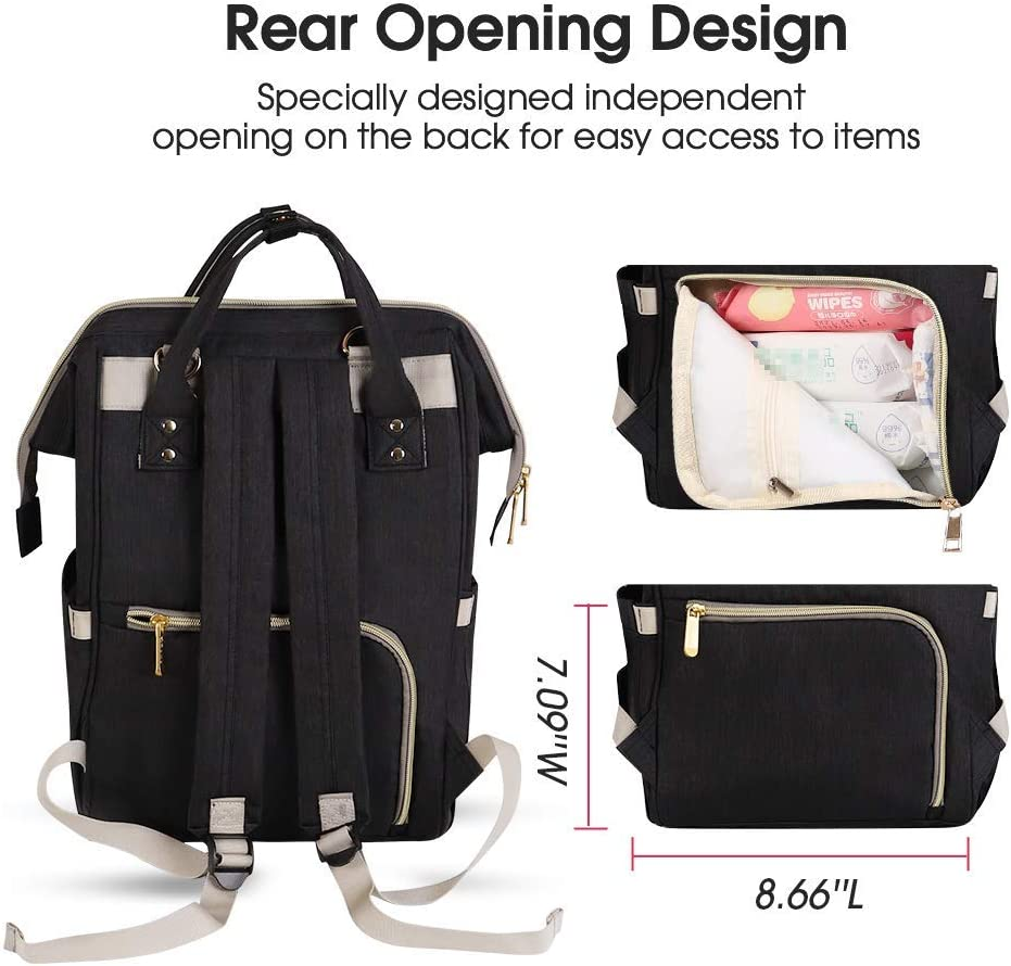 Purple Waterproof and Stylish Large Capacity Maydolly Multifunction Travel Nappy Back Pack Maternity Baby Changing Bags Diaper Bag Backpack