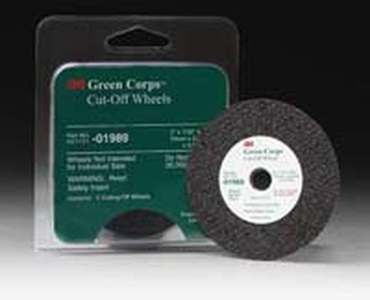 5 Pack 3M 01990 Green Corps Premium High Performance Cut-Off Wheel
