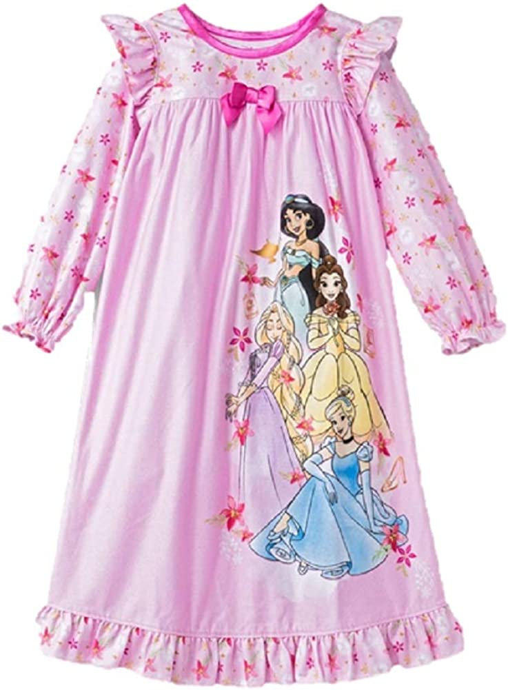 Disney Princesses Flannel Floral Granny Nightgown Gown