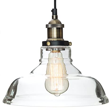 Glass Pendant Light The Loft with Vintage Edison Light Bulb ($7 ...