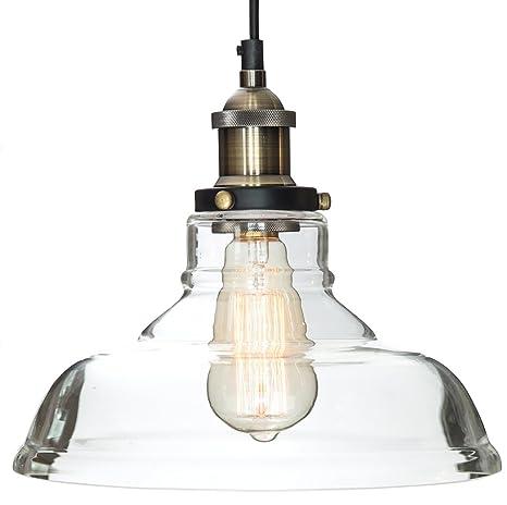 glass pendant light the loft with vintage edison light bulb 7