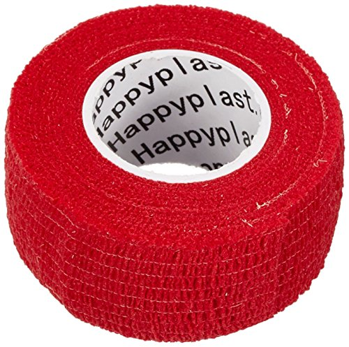 5 x Fingerpflaster, Pflasterverband, Pflaster ohne Kleber, 2,5 cm breit, rot