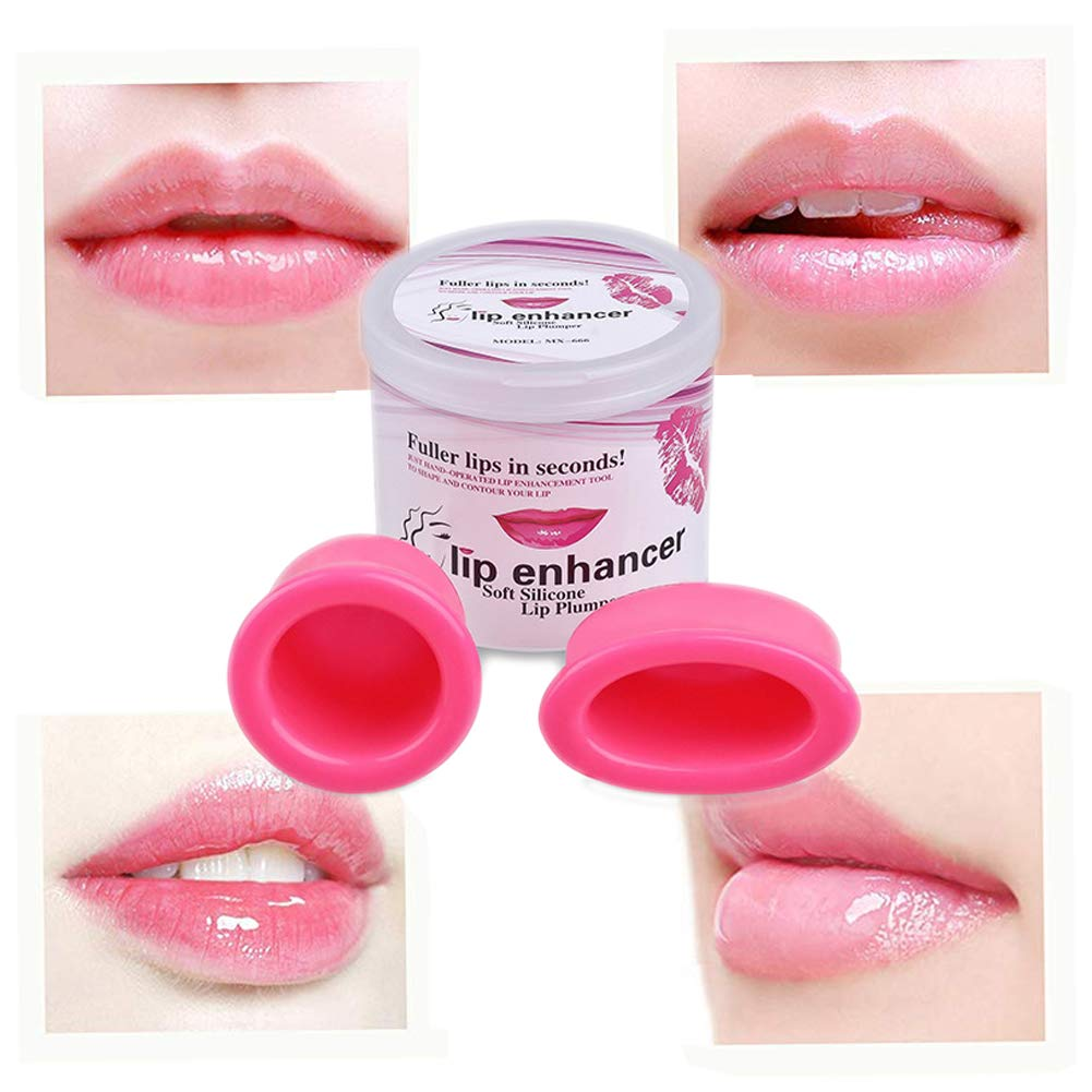 Lip Plumping Enhancer, Soft Silicone Lips Enhancer Plumper Tool Device Quick Full Lips Enhancer Qike