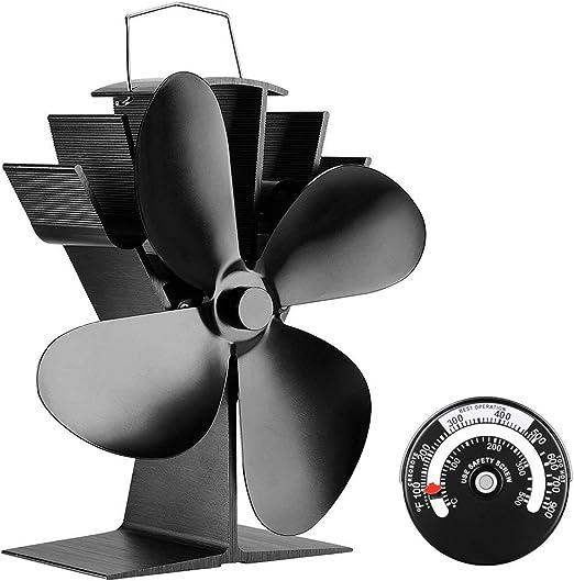 iSunday Ventilador de Estufa de leña con calefacción silencioso de ...