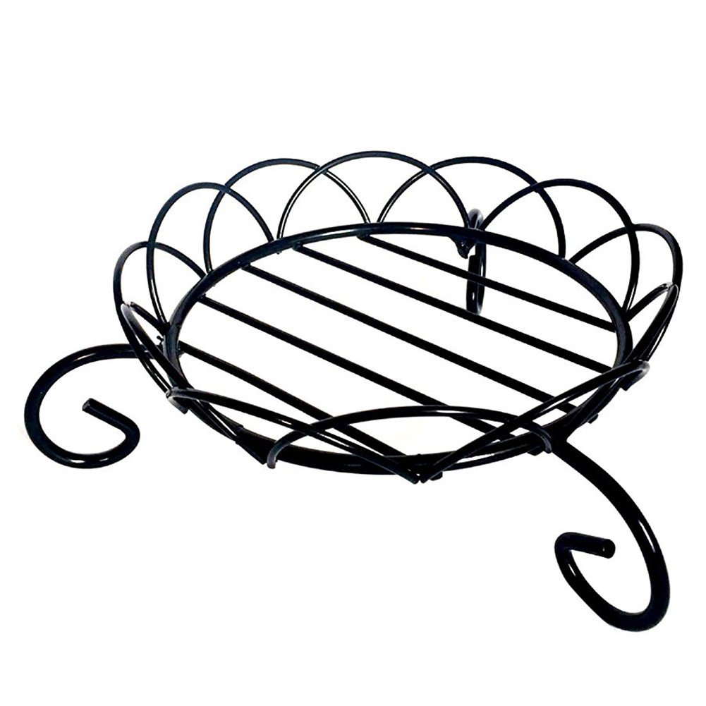 Fastar Flowerpot Stand,6 inches Metal Iron Plant Stands for Indoor and Outdoor Garden Use Black