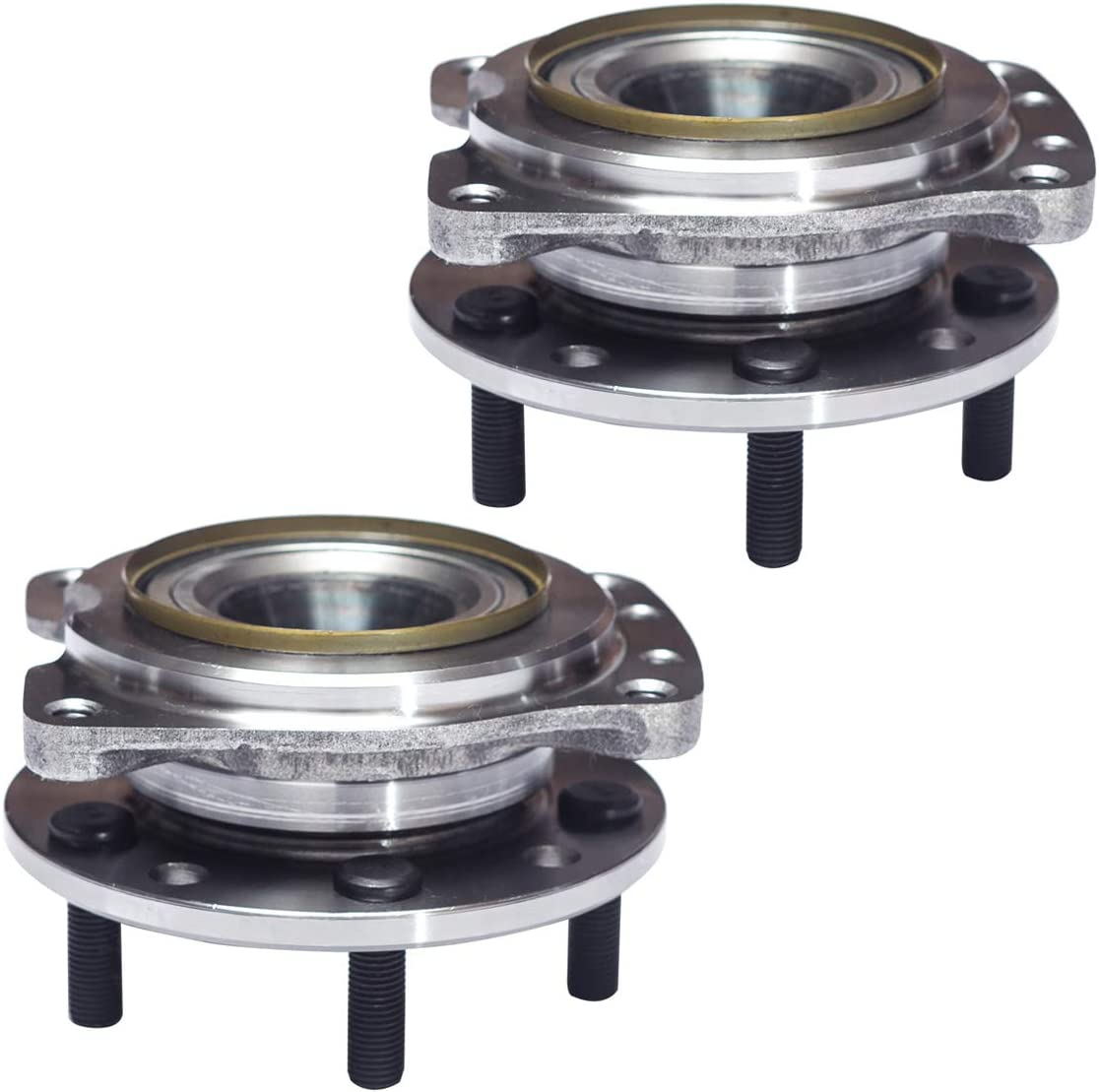 88-96 Pontiac Grand Prix AUQDD 513044 x2 FWD Models 5 Lug Hub Pair Front Wheel Hub and Bearing Assembly Compatible With Buick Regal Chevrolet Lumina 95-99 Monte Carlo 88-97 Olds Cutlass Supreme