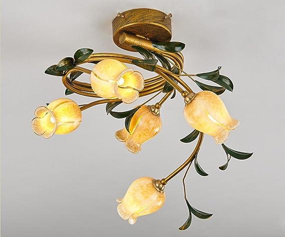 Plafoniera Fiori : Home mall plafoniera americana a forma di fiore camera da letto