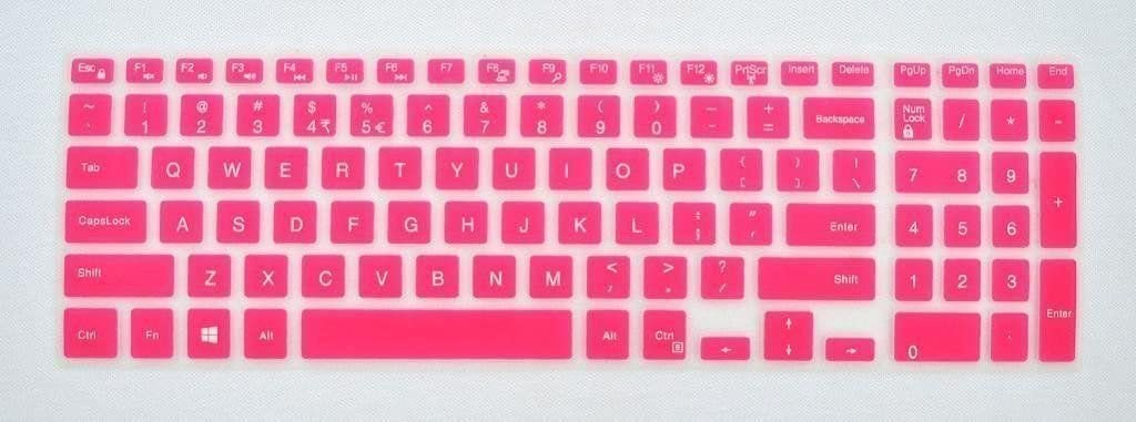 YoBest Silicone Keyboard Cover protector Skin for Dell Inspiron 15HR 5000 5545 i5545 series Laptop - Red