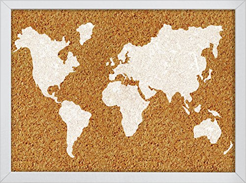 Wall Pops The The World Printed Cork Board