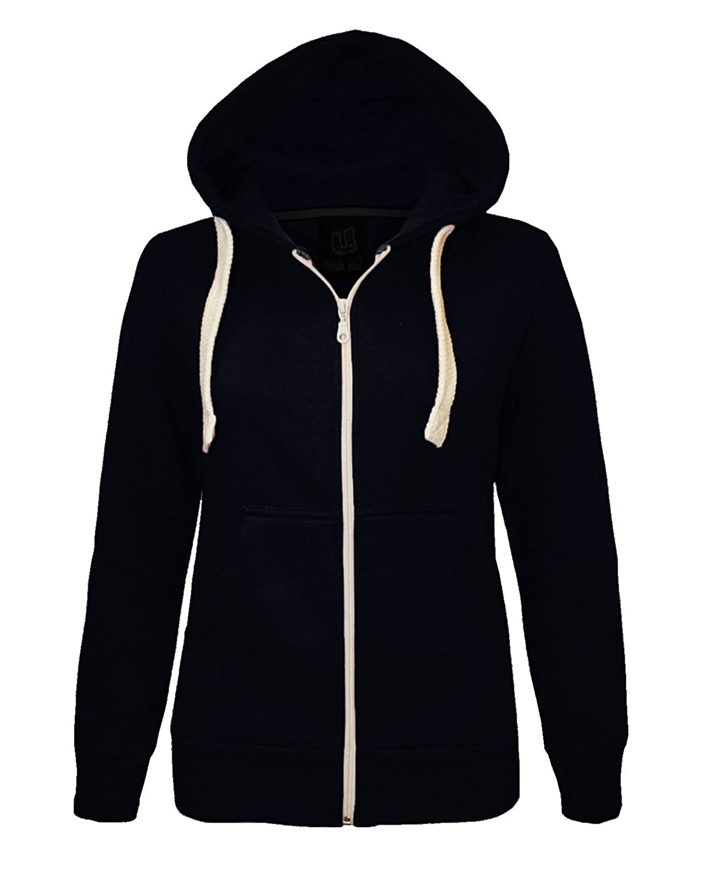 Cima Modes Boys Girls Childrens Kids Hoodie Plain Zipped Sweatshirt Age 2T-13