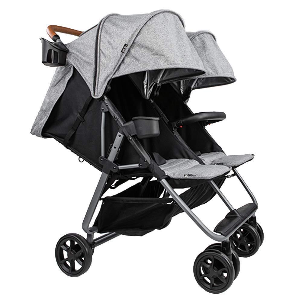 Twin Luxe Zoe XL2 Everyday Twin Stroller Luxury Double Umbrella Stroller