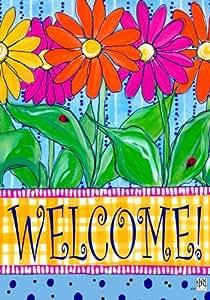 Colorful Gerbera Daisies Spring Welcome 12x 18pulgadas jardín bandera