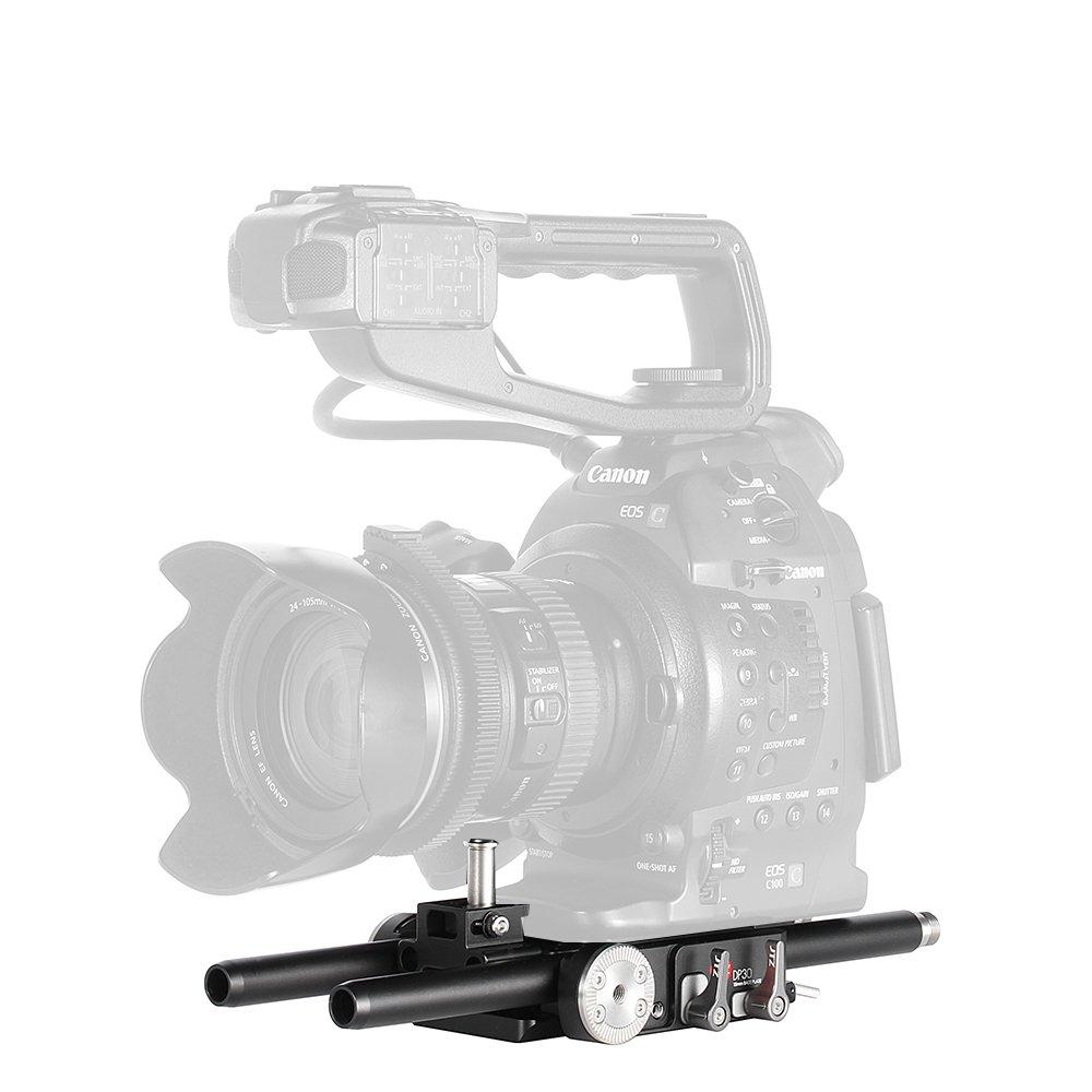 Jtz dp30カメラケージベースプレートリグfor Canon Cinema EOS c100 C300 C500マークII 2   B01MYGCFAQ