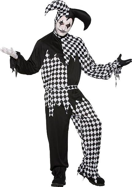 Hombre Halloween Circo Fiesta De Disfraces Arlequín payaso OSCURO ...