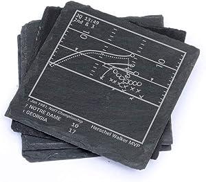 Greatest Georgia Football Plays - Slate Coasters (Set of 4)