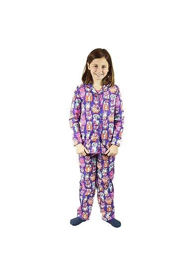 27cd57ba4c82 The Snooze Shack Kids Cute Owl Pajamas - Purple - 100% Cotton Flannel Pajama  Set