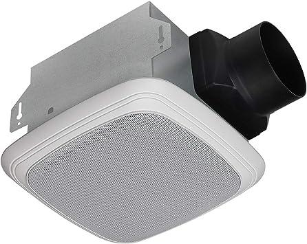 Homewerks Worldwide 7130 04 Bt Bathroom Fan Bluetooth Speaker Ceiling Mount Exhaust Ventilation 1 5 Sones 70 Cfm White Amazon Com