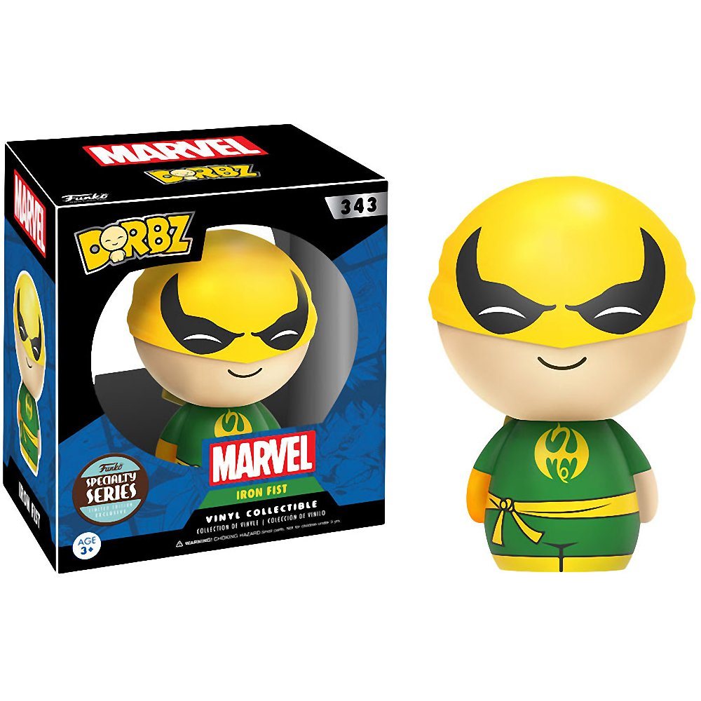 Funko Iron Fist Dorbz x Marvel Universe Vinyl Figure 11206 BCC94N4D Specialty Series 1 Free Official Marvel Trading Card Bundle