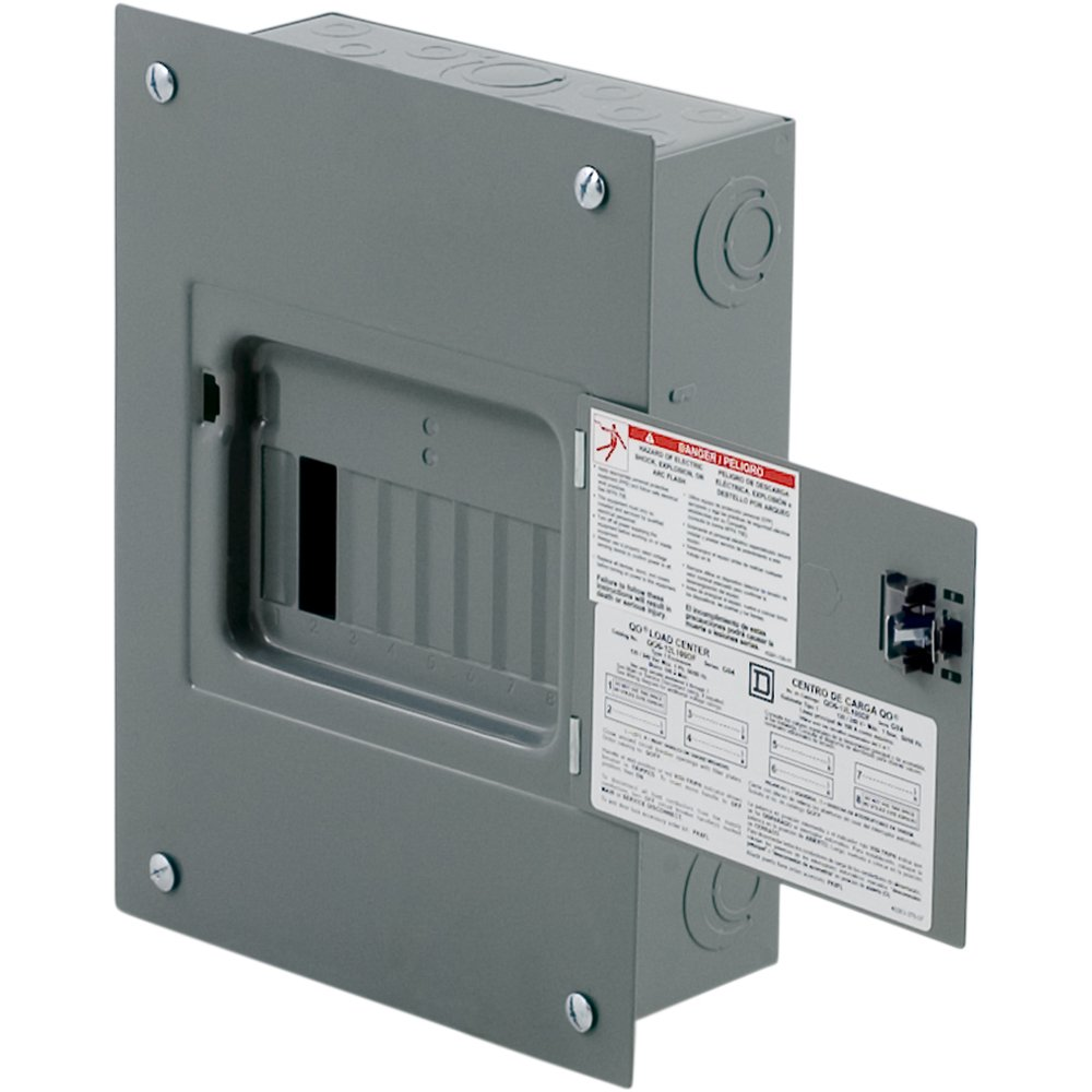 Square D by Schneider Electric QO612L100DF QO 100-Amp 6-Space 12-Circuit Indoor Flush Mount Main Lugs Load Center with Cover and Door by Square D by Schneider Electric (Image #3)