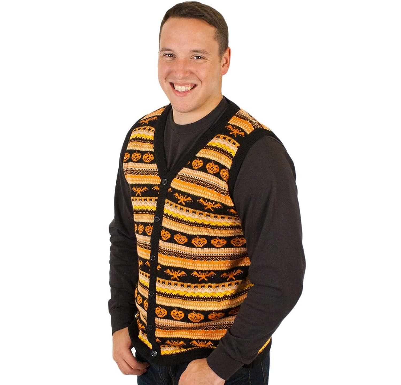 Amazon.com: Spooky Halloween Sweater Vest in Black By Festified ...
