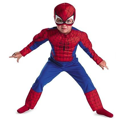 Amazon.com: Spiderman bebé disfraz muscular., Rojo/Azul ...