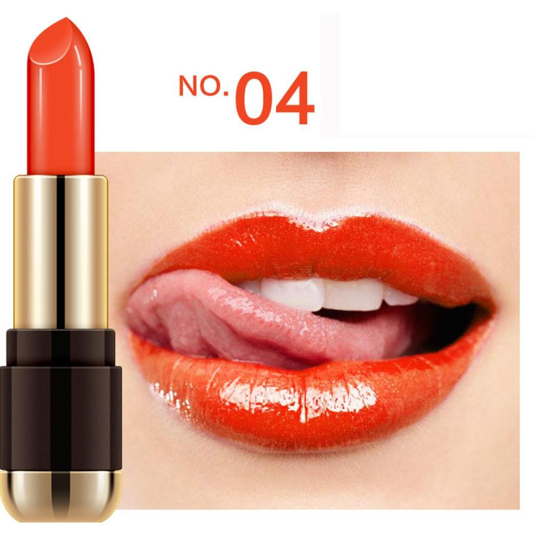 Waterproof Velvet Lipstick XUANOU Long Lasting Lip Gloss Pencil Beauty Sexy Makeup Lipstick (#4)