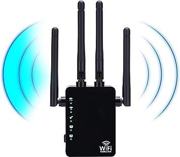Tokenhigh Repetidores WiFi, 1200Mbps Amplificador Señal de WiFi Extensor de Red Doble Banda 2.4GHz & 5G WiFi Range Extender,Repetidor WiFi Largo ...