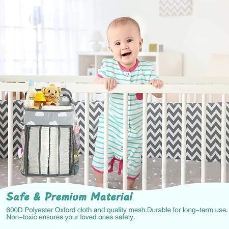 AUVSTAR Pañales Organizador,Bebé Colgante Organizador,Organizador de Coche,Bolsa de Almacenamiento para Colgar Pañales de Cuna,para Bebé Cuna,Cambiador Bebe,Coche, Cesta de Regalo para Recién Nacido
