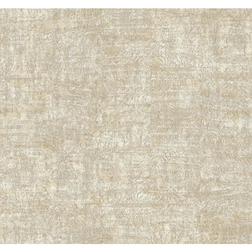 (York Wallcoverings GF0712 Gold Leaf Foil Texture Wallpaper, Metallic Platinum/Cream/Beige)