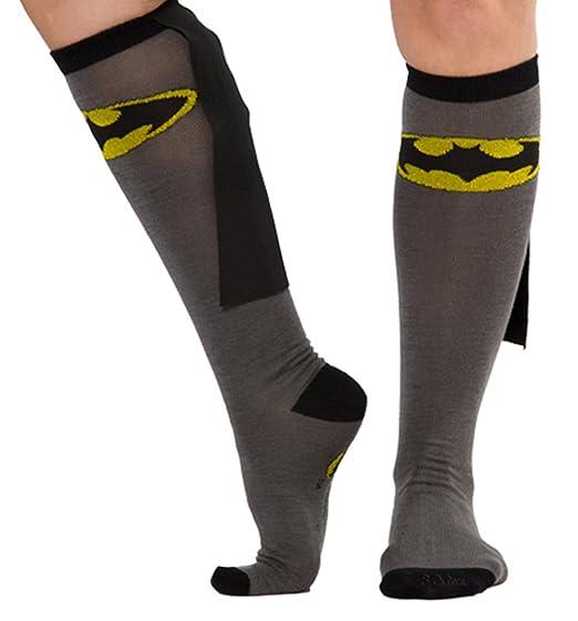 e8d366709 Image Unavailable. Image not available for. Color  DC Comics Batman Caped Knee  High Socks