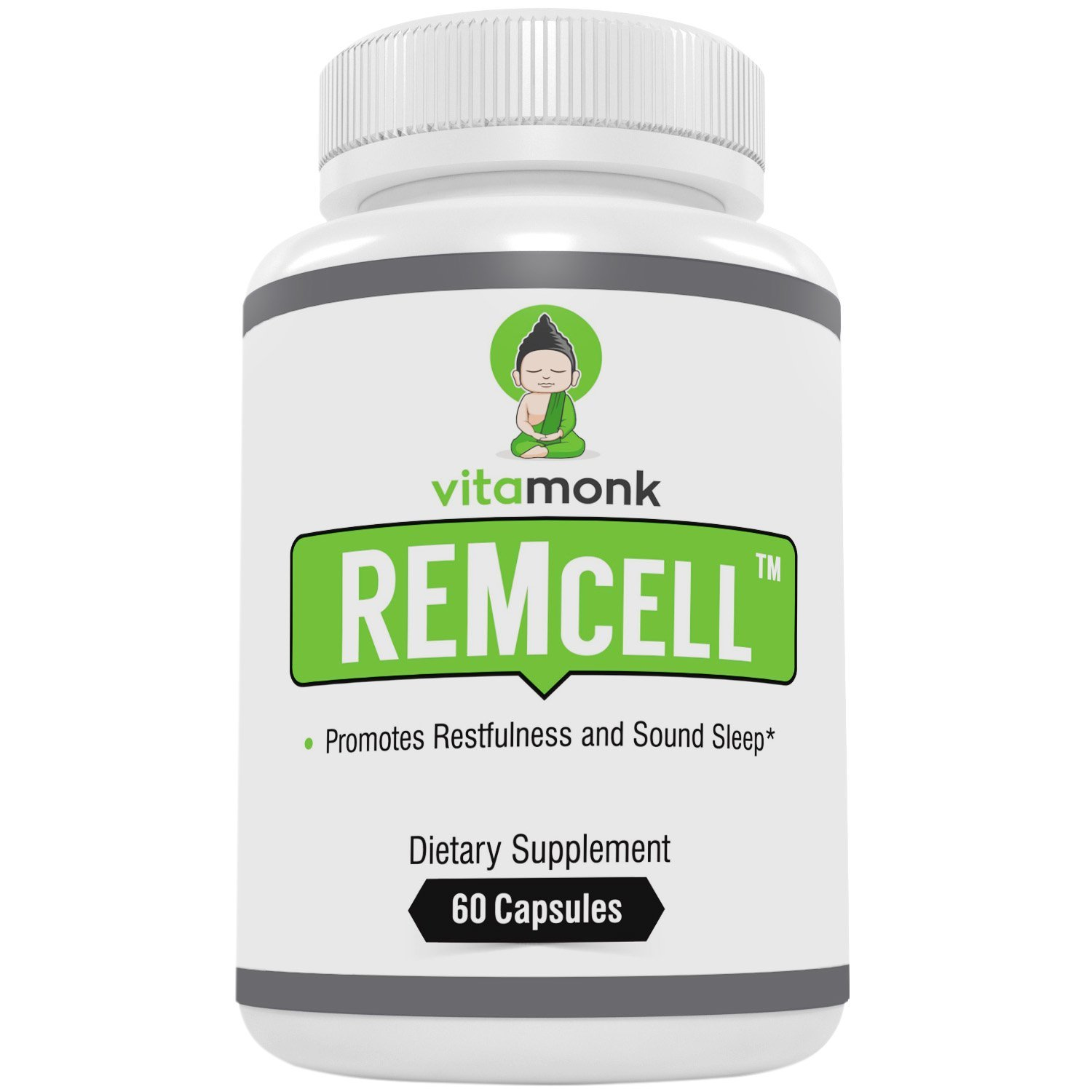 REMcell - #1 Trusted Natural Sleep Aid That Actually Works - by VitaMonk - Effective Sleeping Pills With Natural Ingredients For Restful Sleep With No Hangover Feeling - No Artificial Fillers