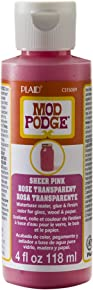 Mod Podge Waterbase Sealer, Glue and Finish Color in Assorted Colors (4-Ounce), CS15089 Sheer Pink