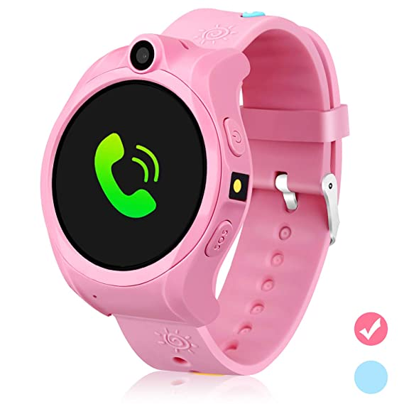 DUIWOIM Smartwatch for Kids GPS Tracker Kids Smart Watch for Girls Boys with SOS Camera Alarm Clock Game 1.44 inch Touch Screen Sport Fitness Tracker ...
