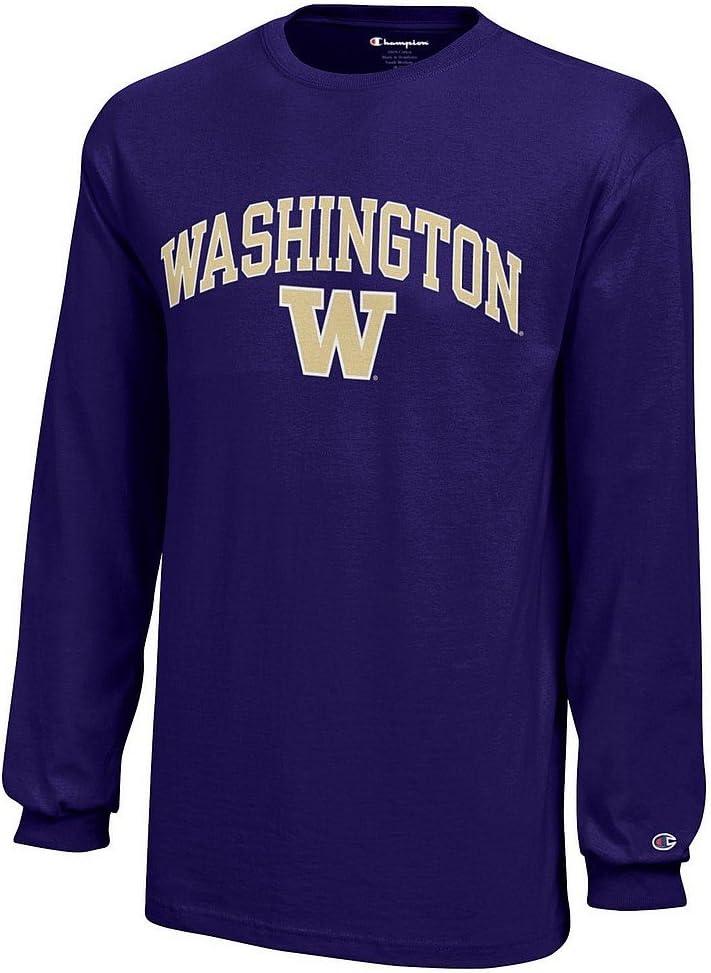Elite Fan Shop Washington Huskies Kids Long Sleeve Tshirt Purple