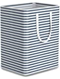 Tribesigns 96L Extra Large Laundry Hamper Collapsible Laundry Basket with Handle 4 Detachable Rods Cotton Linen Foldable Bathroom Storage Basket for Toys, Clothes