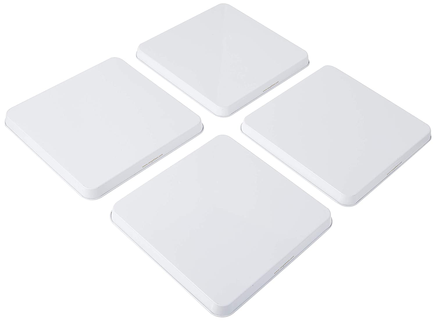 "Range Kleen Stove Burner Covers – 4 White 9.5"" Square Burner Covers for Electric Stove"