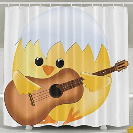Amazon.com: Baby Chicken Paly Guitar Fashion Shower Curtain Deluxe ...