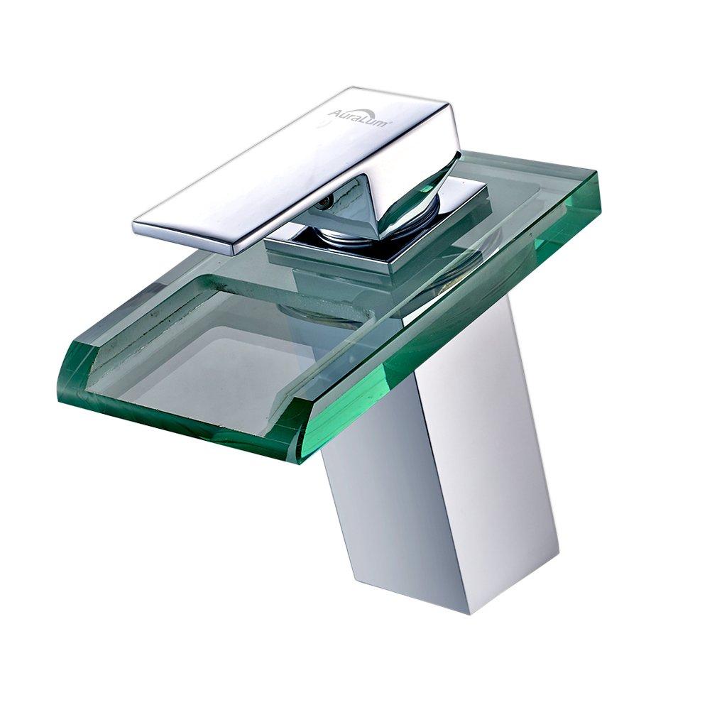 Argento typ3 Auralum/® Miscelatore Monocomando Rubinetto Lavabo Miscelatore Monocomando per Vasca da Bagno