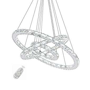 96W Kristall LED Dimmbar Hängeleuchte Kronleuchter Pendelleuchte Deckenlampe